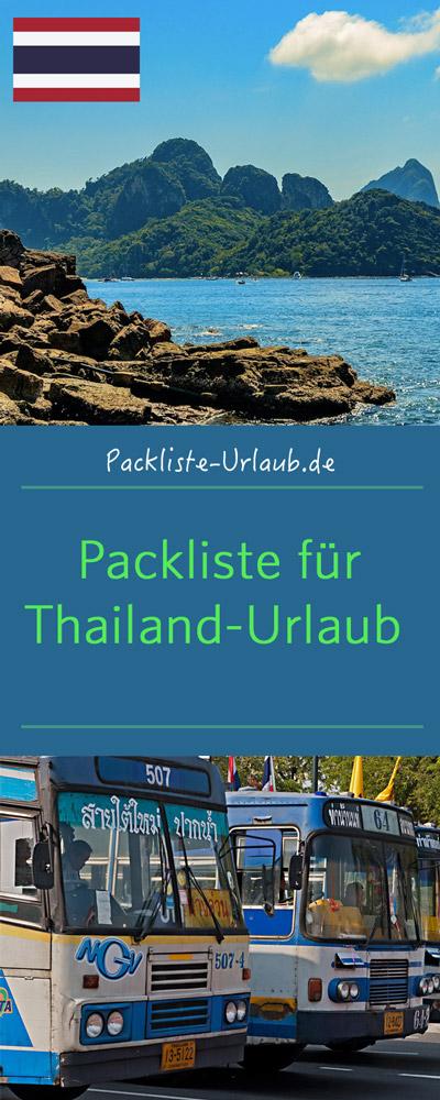 Packliste Thailand-Urlaub