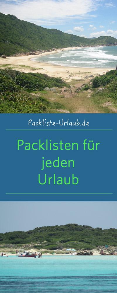 Packlisten auf Packliste-Urlaub.de